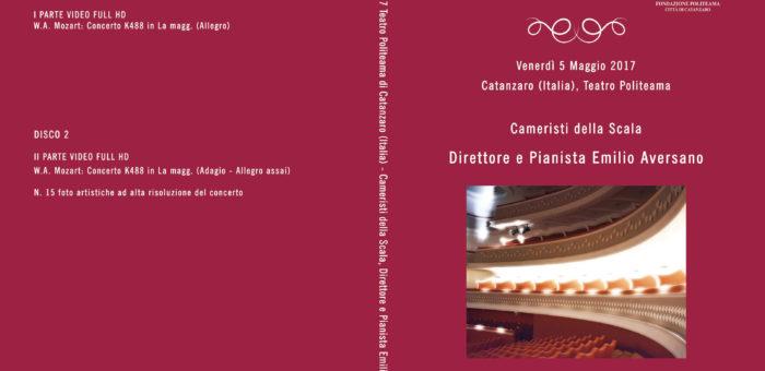 DVD cover video concerto Emilio Aversano pianist