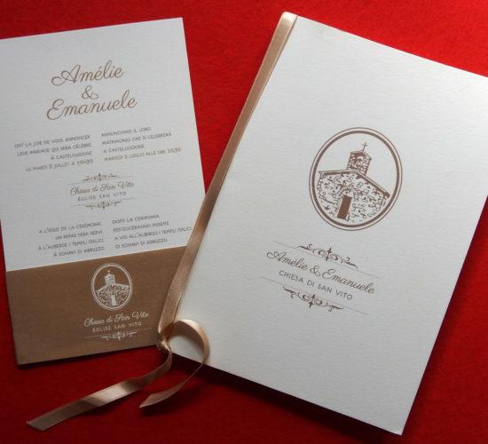 Libretto messa e invito nozze