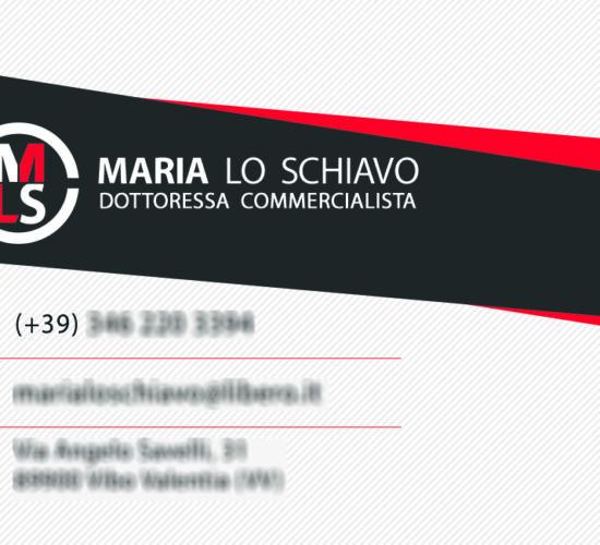 Business card Dottoressa Maria Lo Schiavo